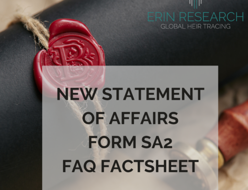Help with New Statement of Affairs (Form SA2); replacing the Inland Revenue Affidavit (Form CA24)