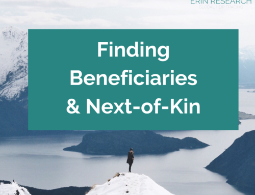 Finding Beneficiaries and Next-of-Kin